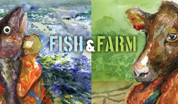 banner fish and farm